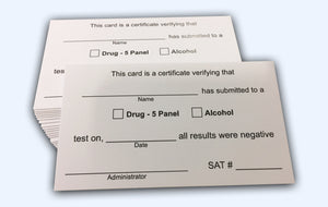 Wallet Card for Drug Test Results