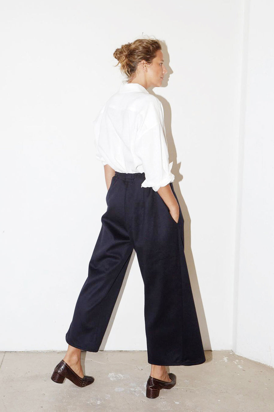 Blue Night Wool Karate Pants
