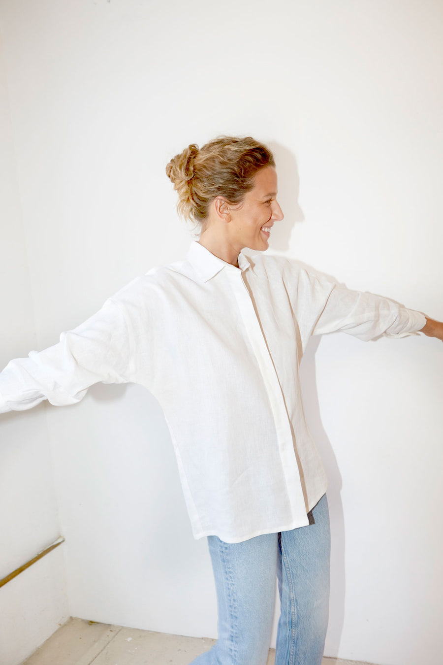 White Linen Ren Shirt