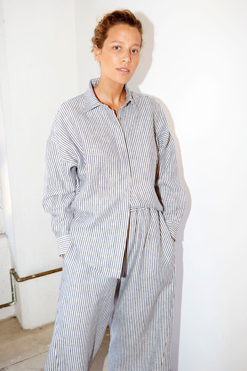 Striped Linen Ren Shirt