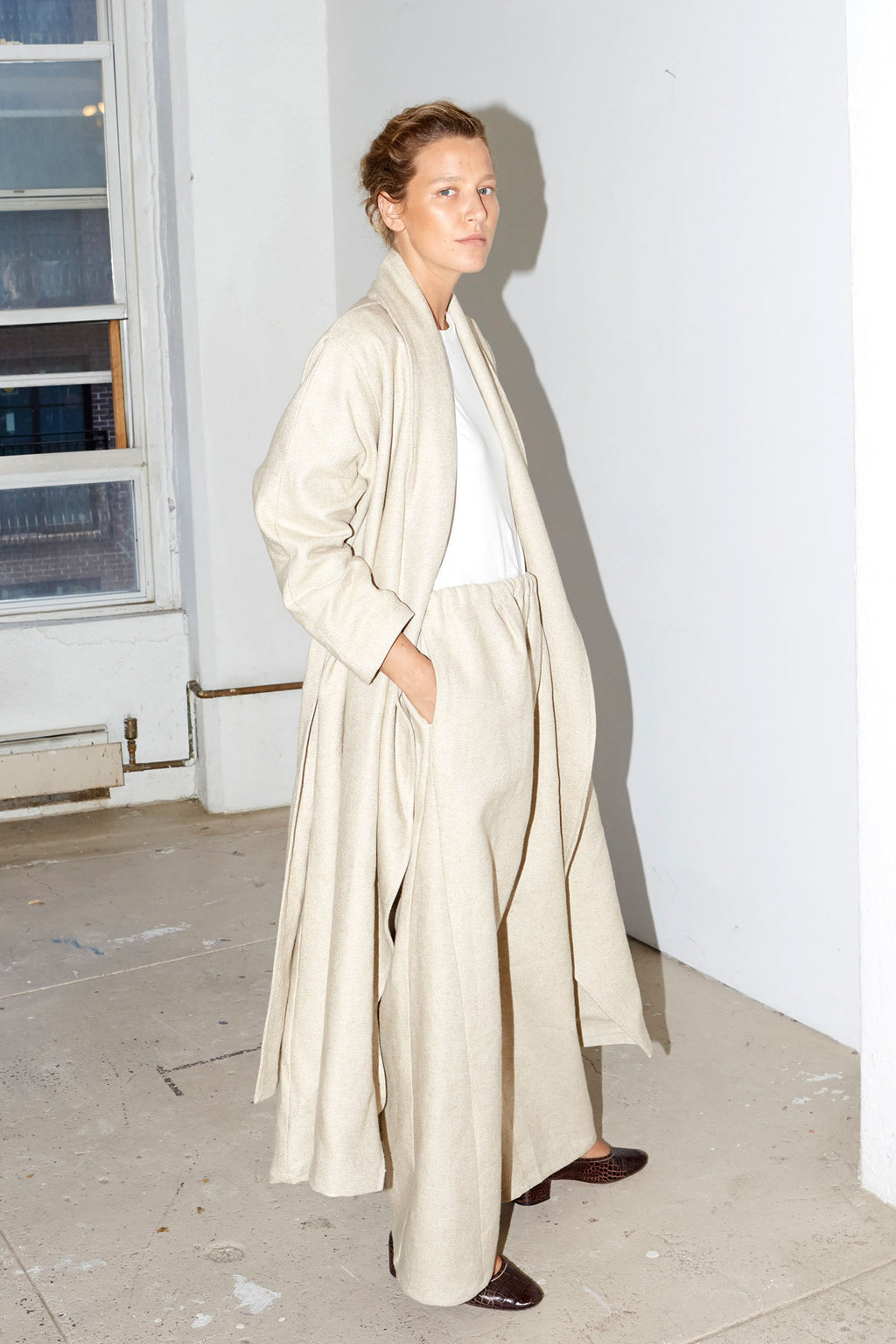 Sand Heavy Linen Trench