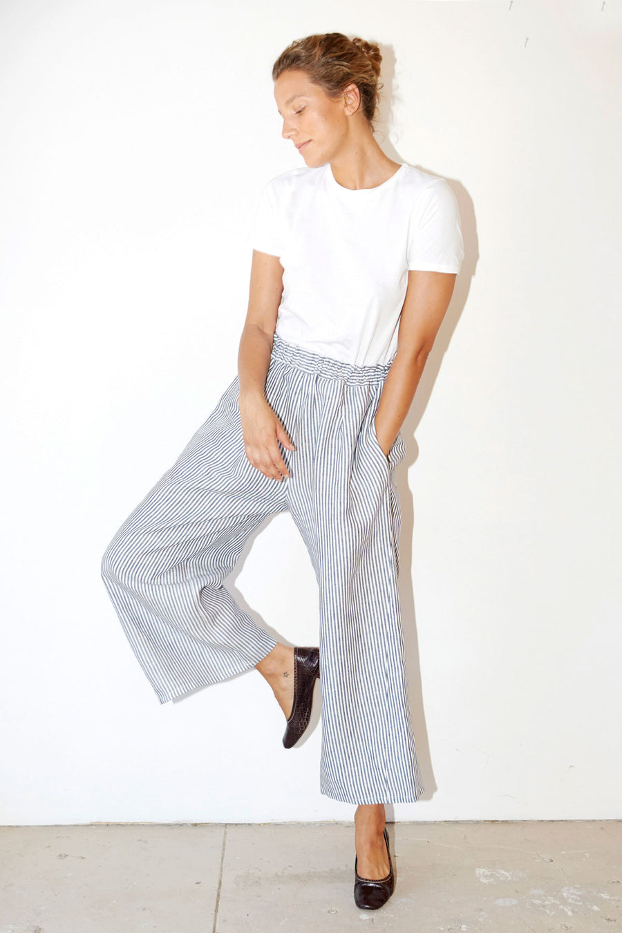 Striped Linen Karate Pants