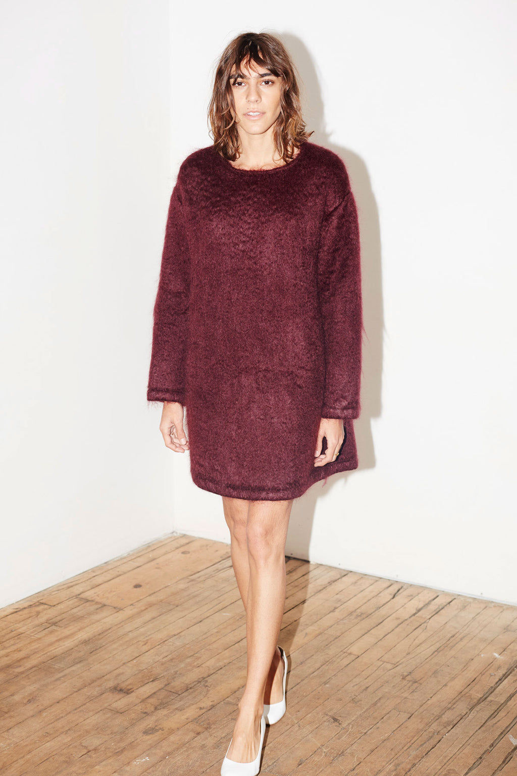 Cherry Mohair Cosy Jumper Dress