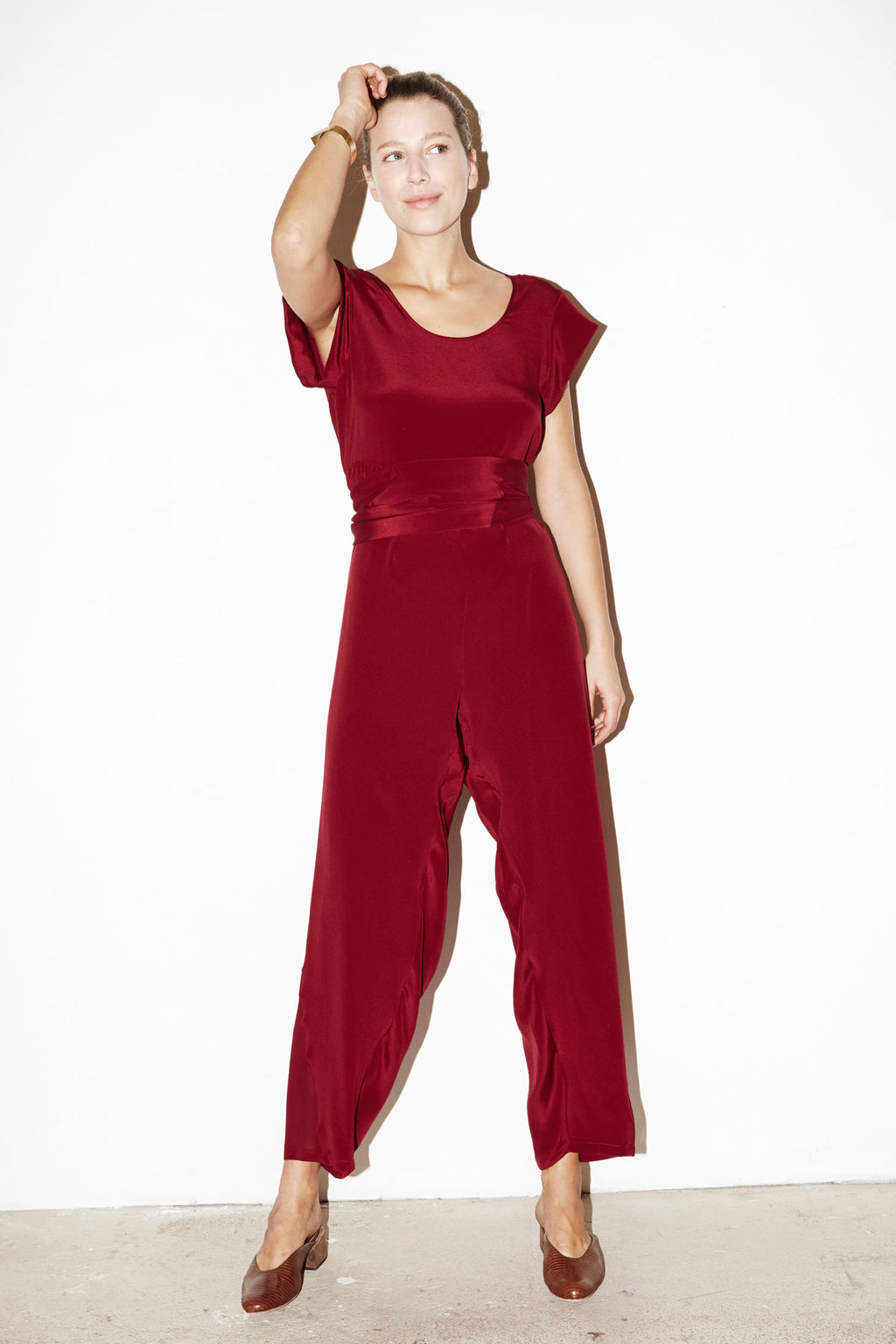 Pomegranate Kung Fu Jumpsuit