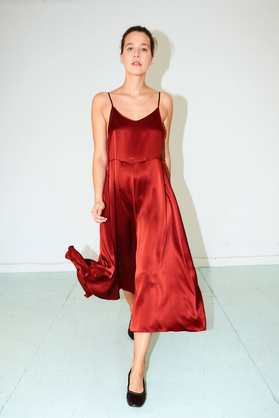Ruby Red Slip Dress