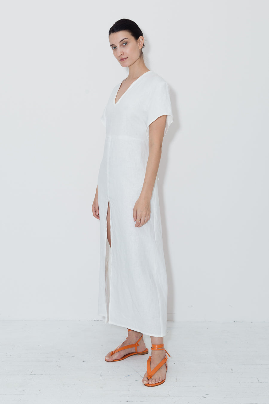 White Linen Lluc Dress