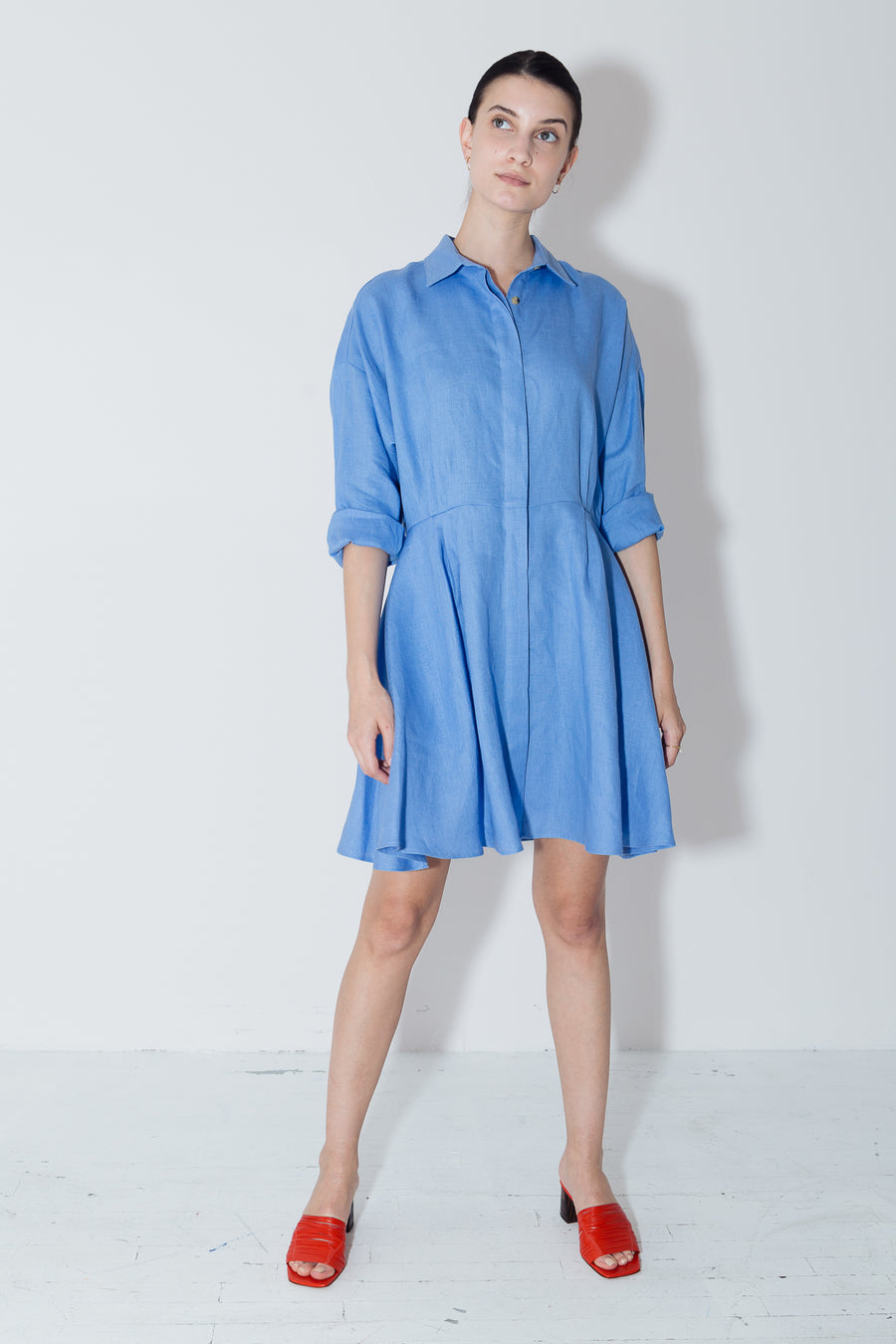 Empyrean Linen Short Shirt Dress