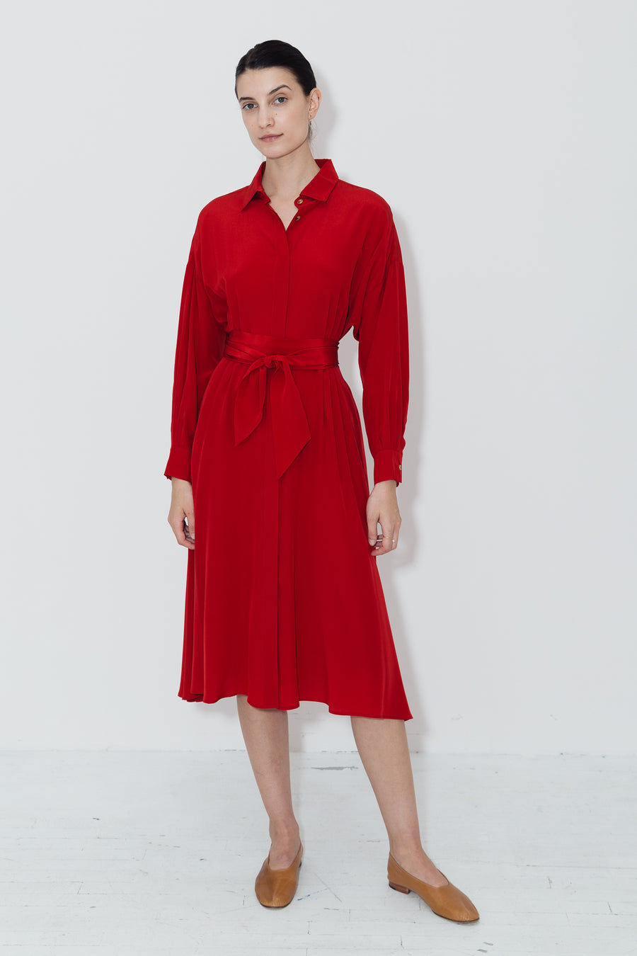 Passion Red Shirt Dress