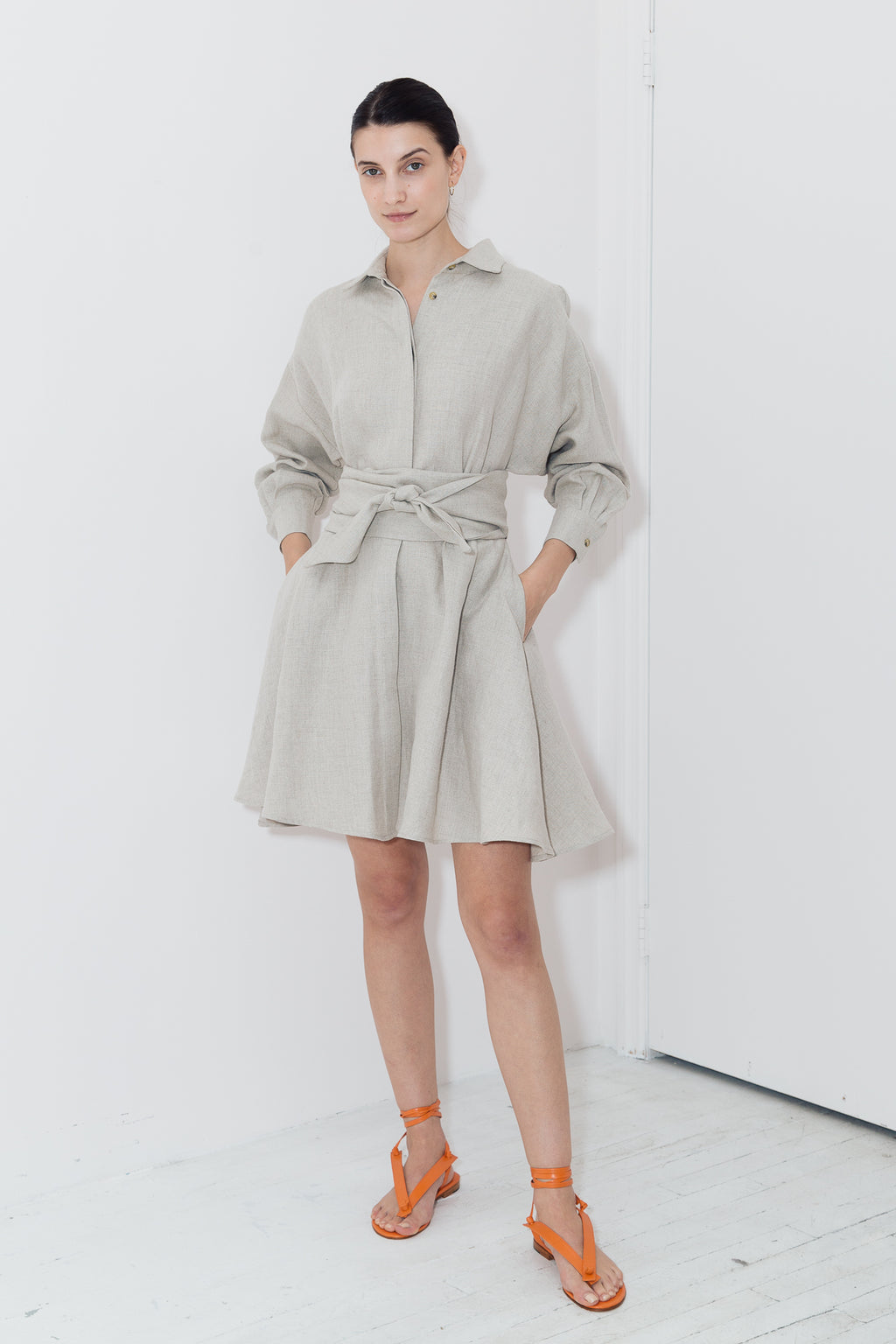 Desert Heavy Linen Short Shirt Dress