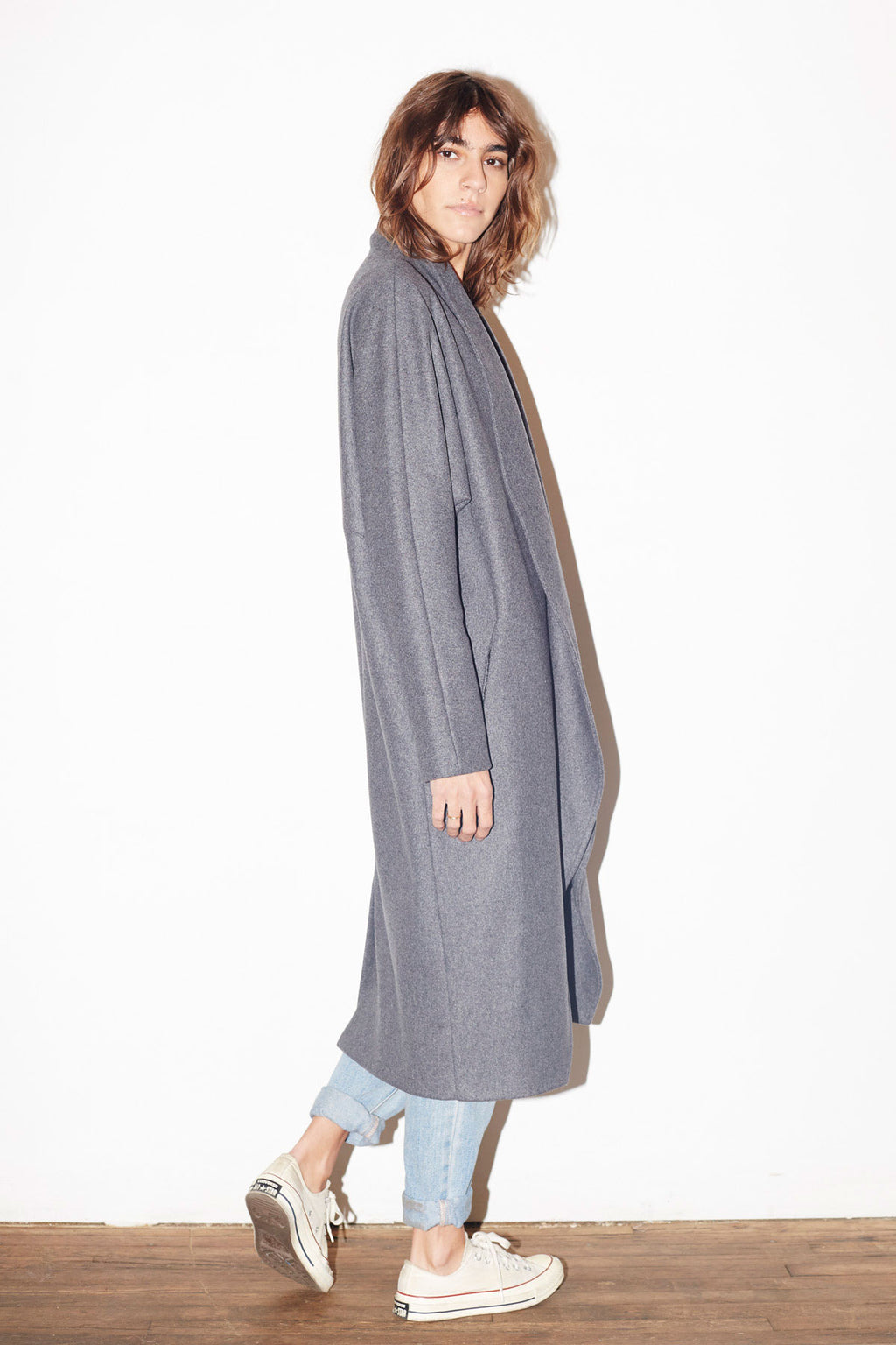 Ash Grey Wool Escape Coat