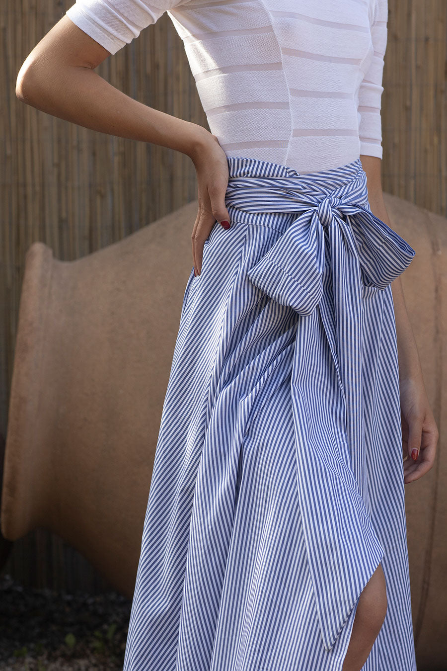 Striped Cotton Alma Skirt