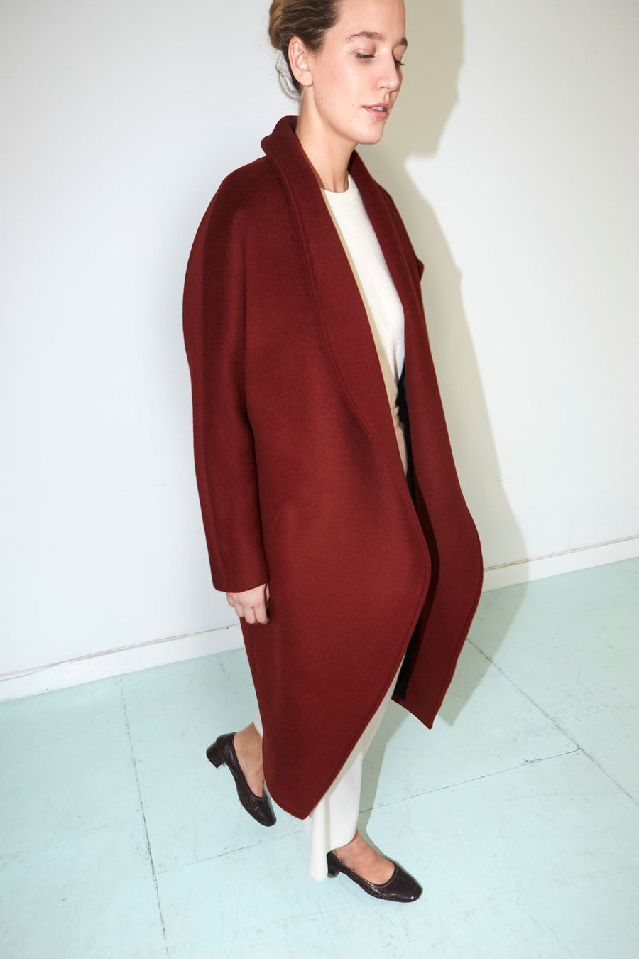Caoba Wool Escape Futura Coat
