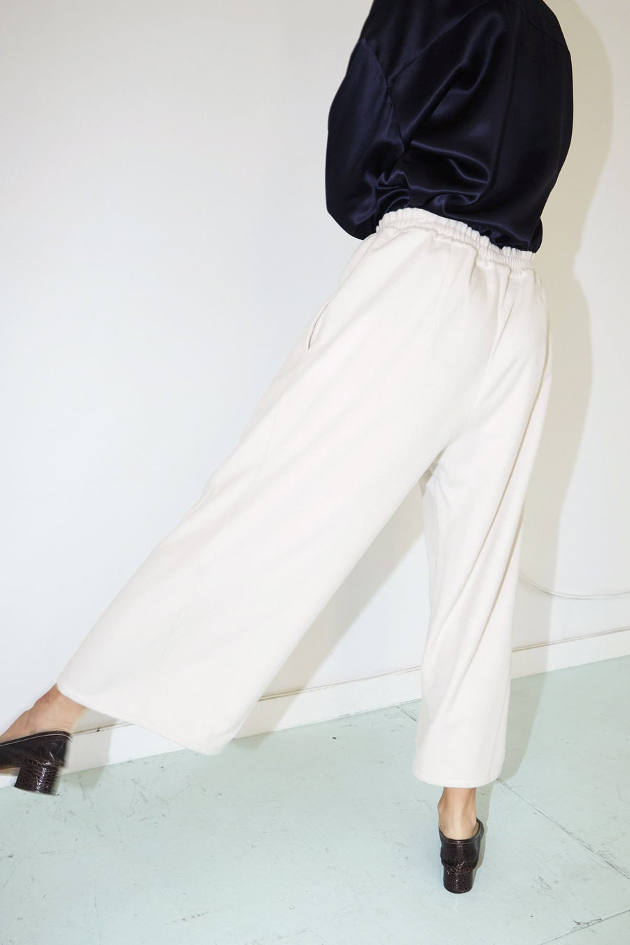 Bone Wool Karate Pants