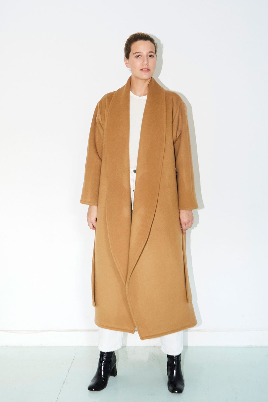 Camel Wool Futura Trench Coat