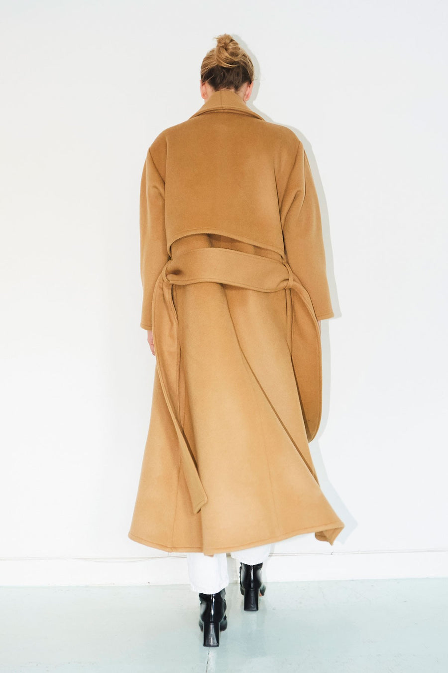 Camel Cashmere Wool Trench Coat