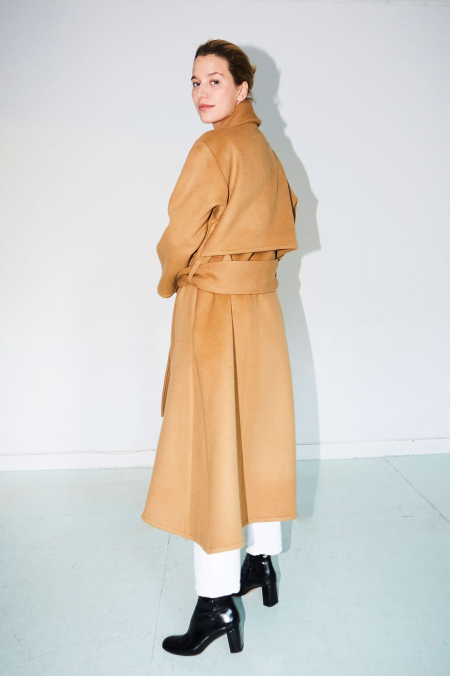 Camel Wool Trench Coat