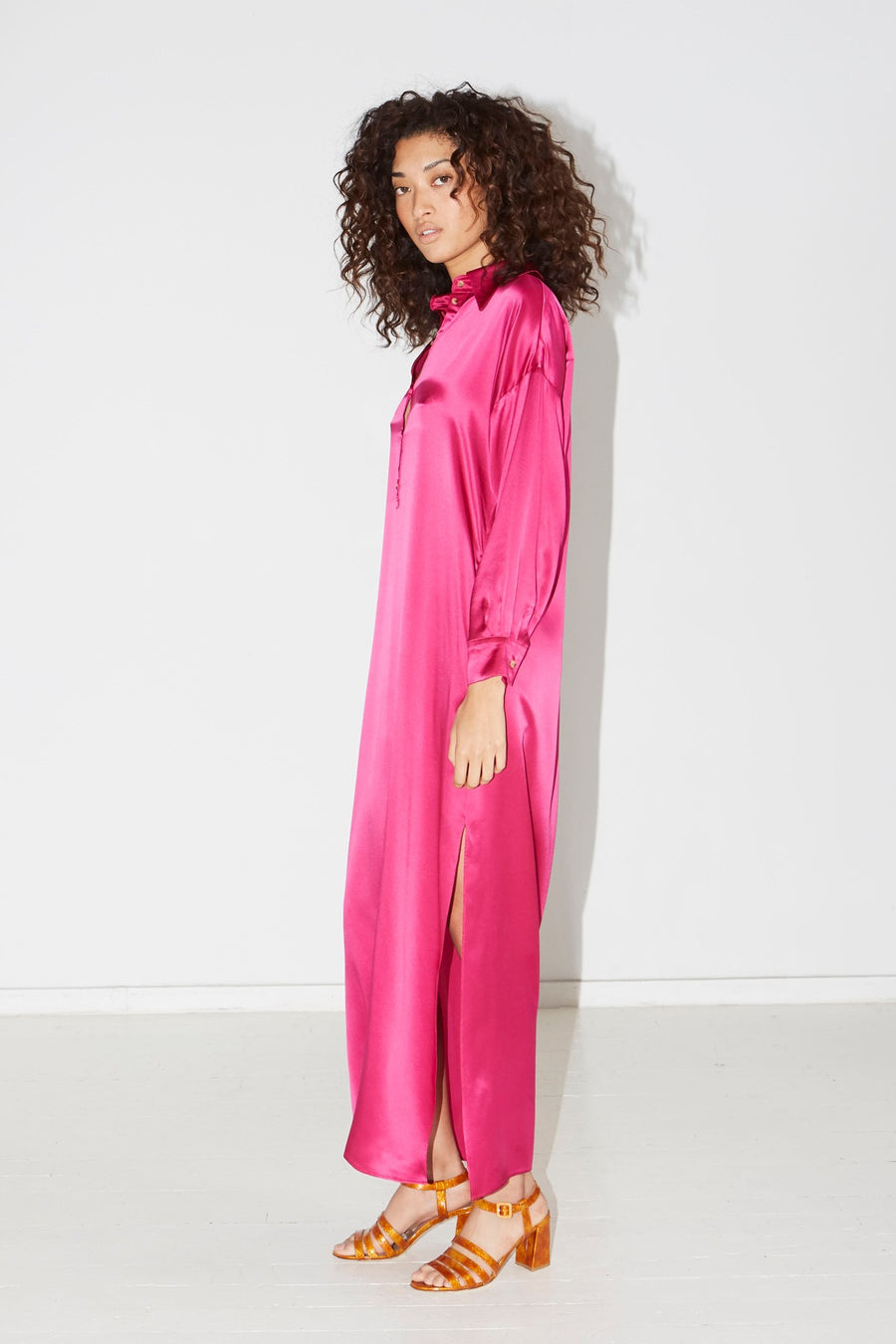 Dragon Pink Caftan Dress