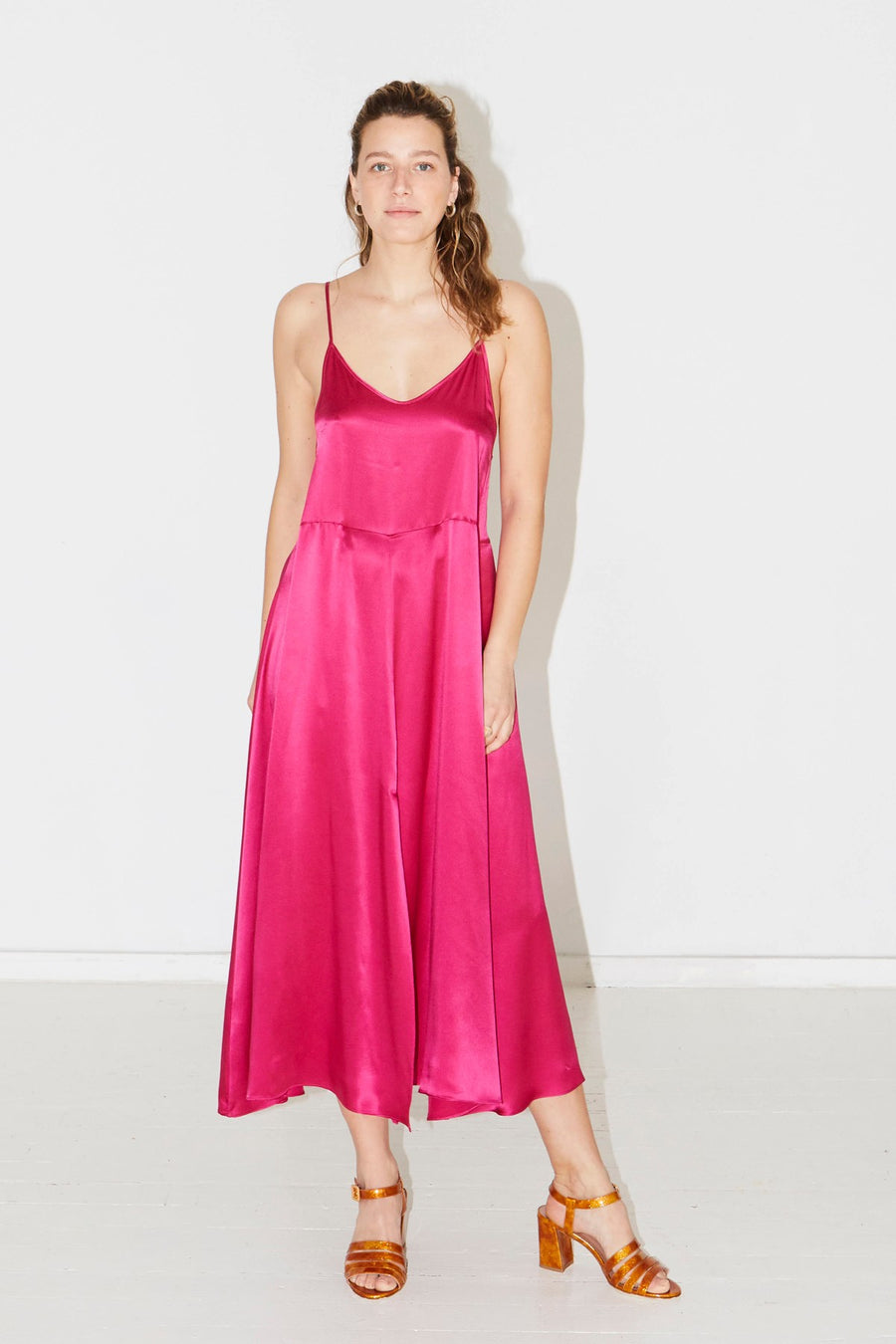 Dragon Pink Slip Dress
