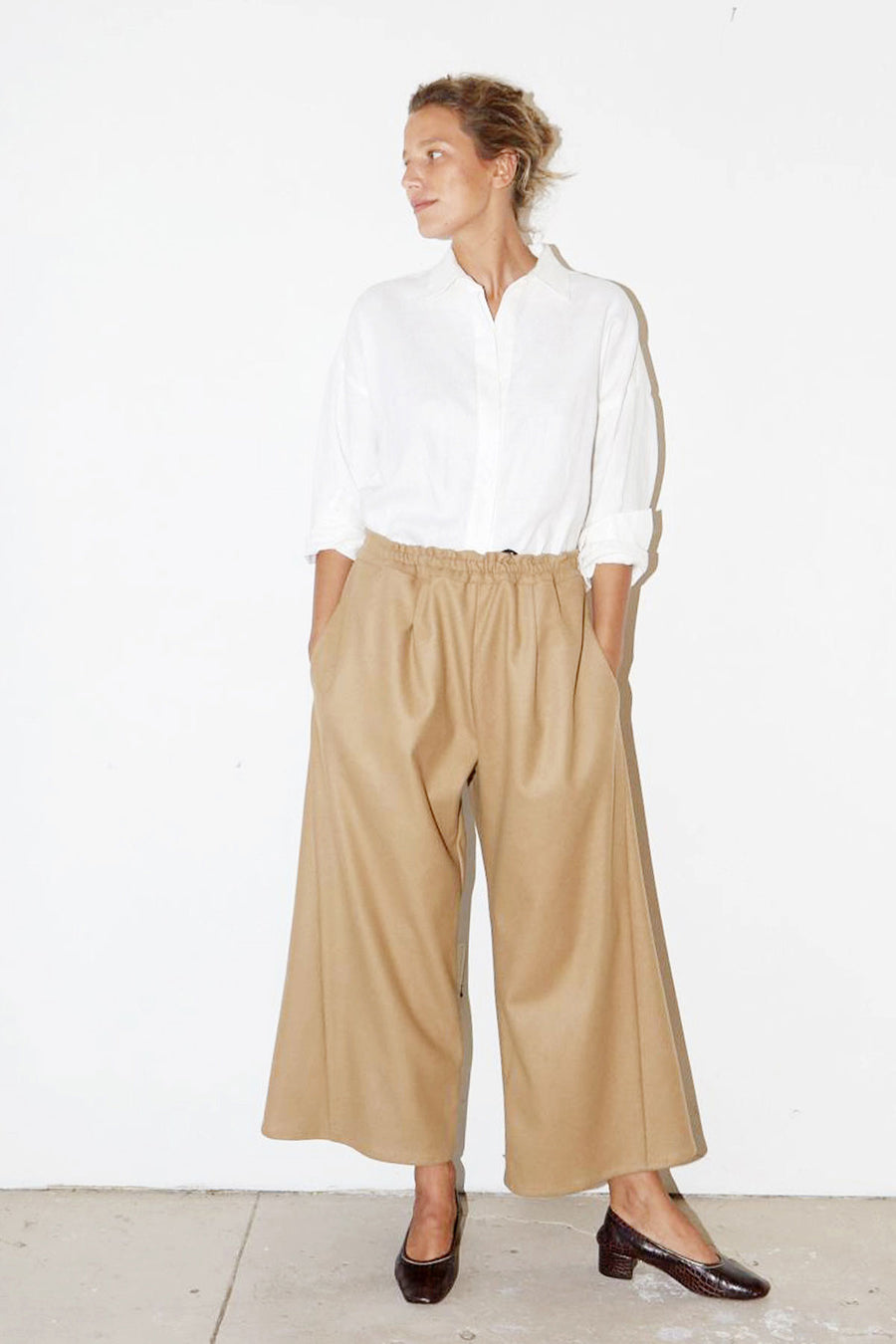 Camel Wool Karate Pants