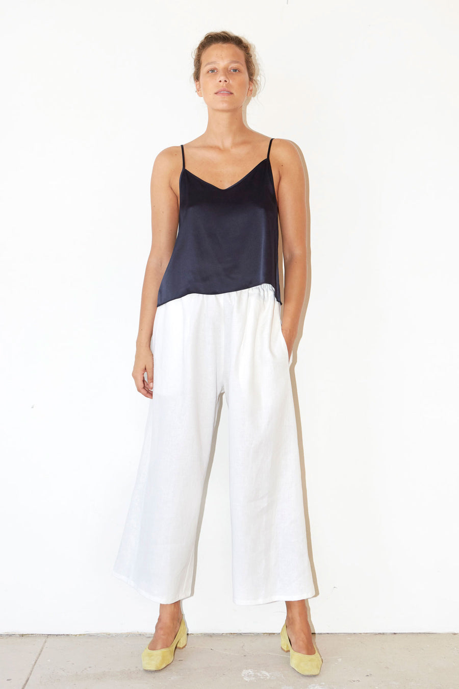 White Linen Karate Pants