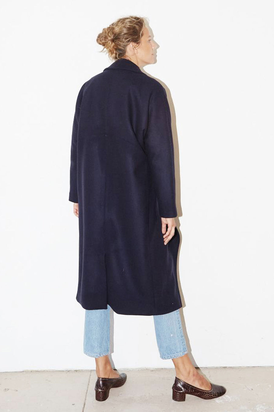 Night Blue Cashmere Wool Escape Coat
