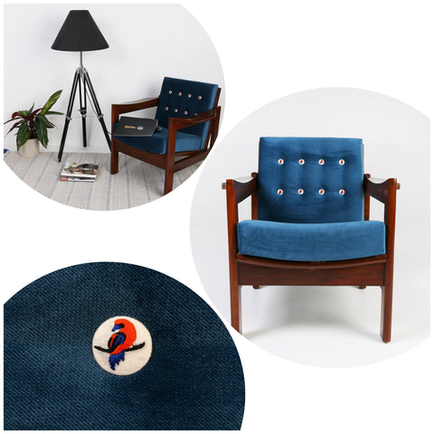 Blue Robin Lounge Chair