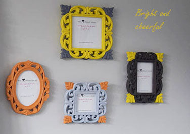 Colourful hand painted picture frames by The Elephant Head