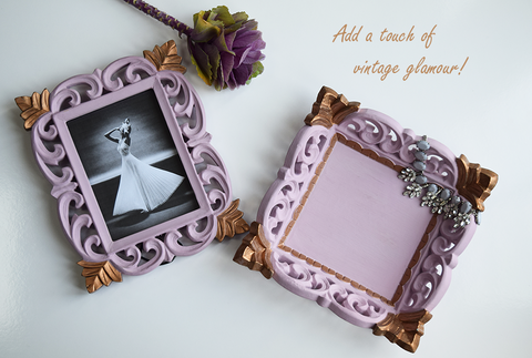 Blush pink and gold picture frame and tray by The Elephant Head