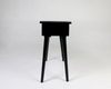 Kala-Black Tile Top Console Table -side
