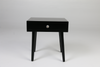 Black side table, ceramic handle
