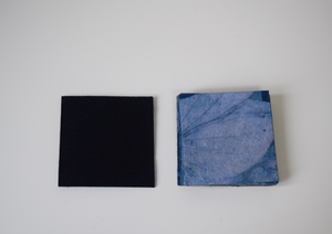 Blue handmade paper coasters-set of 2, 4 or 6