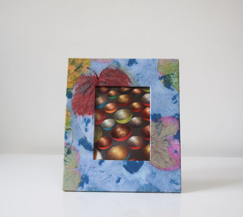 Multi coloured imprint picture frame front view