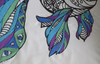Mandala fish embroidered cushion details displaying the embroidery