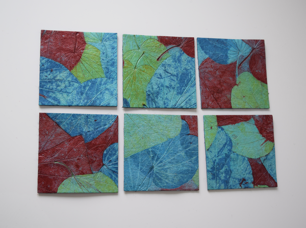Garden set of 6 coasters