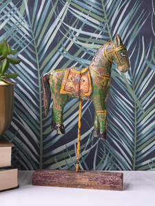Green Reclaimed Wood Horse