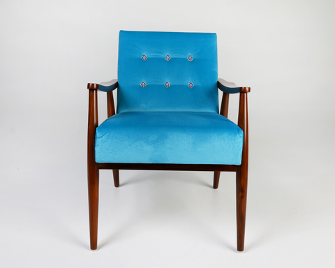Mor Velvet Arm Chair- front