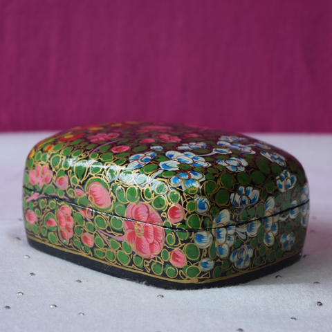 Multicoloured Floral Paper Mache Box