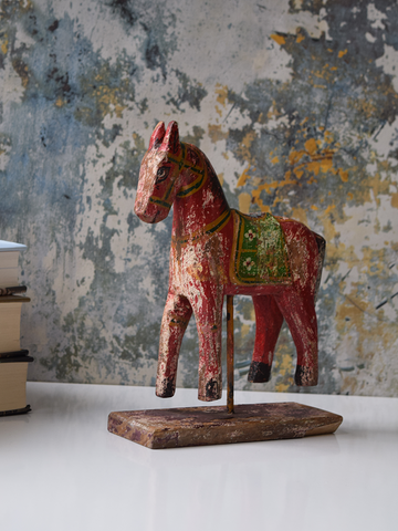 Red Reclaimed Wood Horse