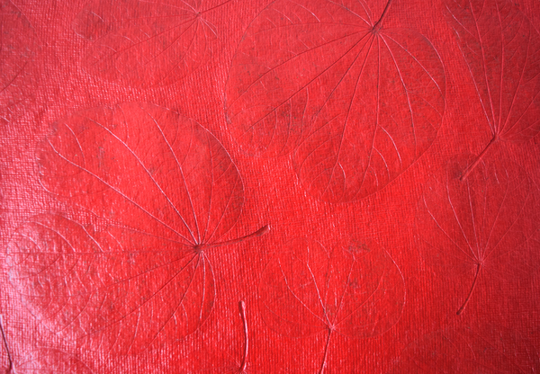 red heart leaf table mat-details