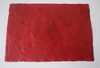 red heart leaf table mat