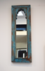 Turquoise distressed mirror