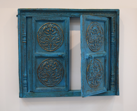 Turquoise vintage window-open