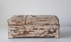 Distressed white reclaimed wood Indian barber box