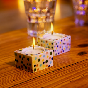 White Confetti (Square), Diyas/Tealight holders