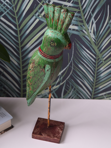 Green Reclaimed Wood Parrot