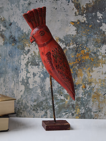 Red Reclaimed Wood Parrot