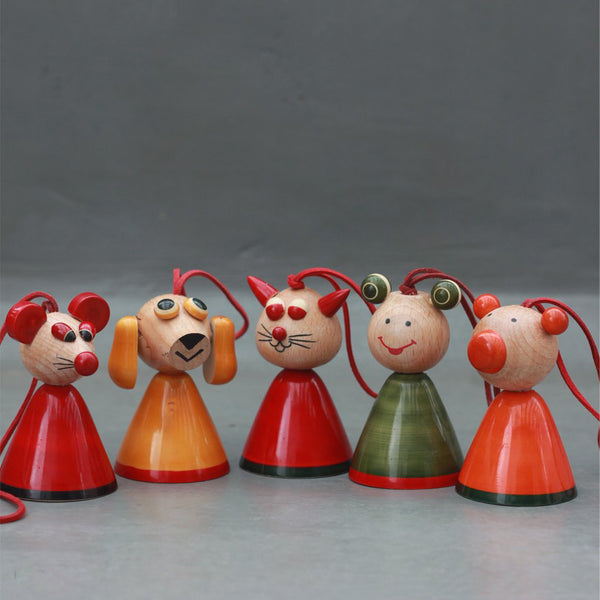 wooden animal bells