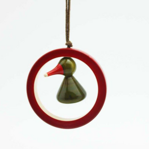 Bird-in-a-Ring Christmas Ornament