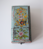 Light blue barber box with floral motifs - top view