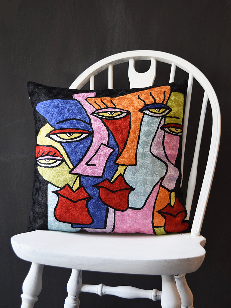 Abstract 'Cynics' Cushion Cover